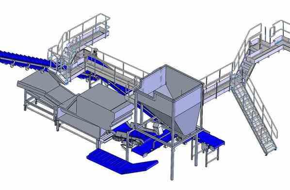 Aanpassing productielijn diepvriesfriet