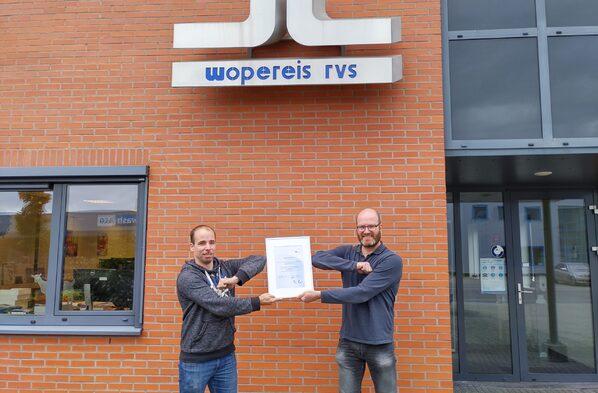 Wopereis RVS ISO-gecertificeerd
